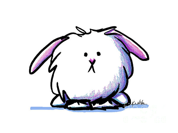 Dust Bunny Print by Kim Niles