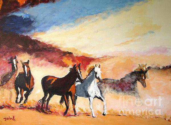 Dust In The Wind Print by Judy Kay