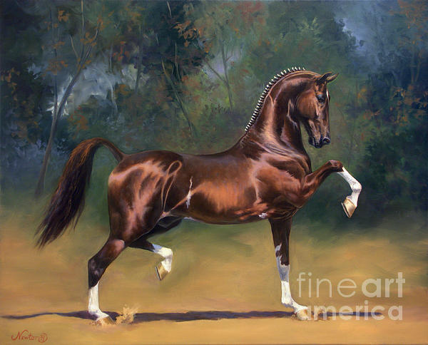 Dutch Harness Horse Saffraan Print by Jeanne Newton Schoborg