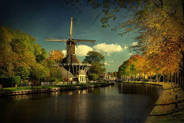 Dutch Windmill Print by Annie  Snel
