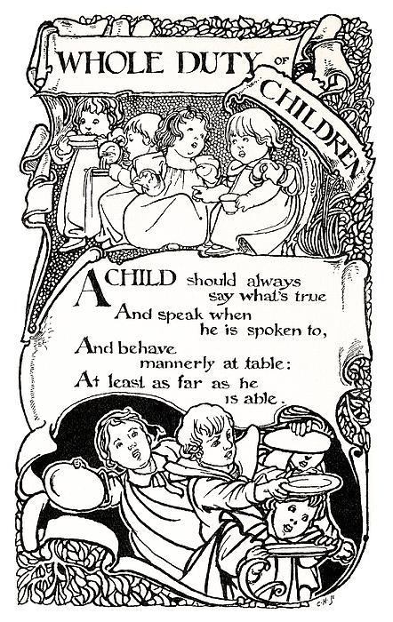 Duty Of Children  1895 Print by Daniel Hagerman