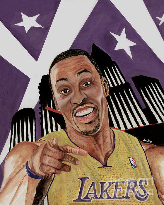 Dwight Howard Welcome To The  Lake Show Print by Israel Torres