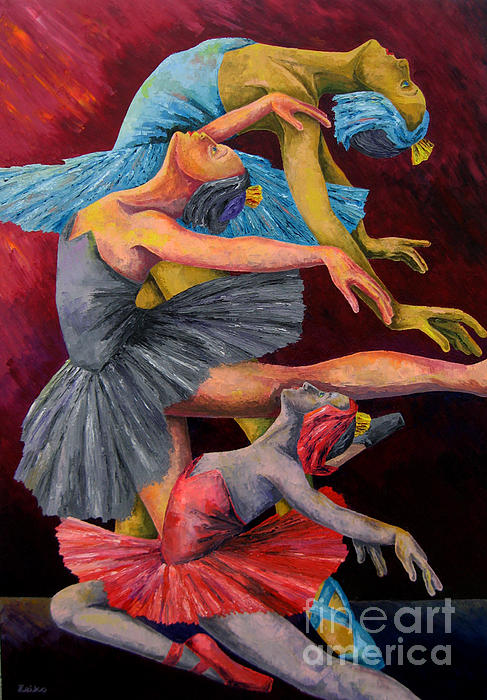 Dying Swan                          Print by Zeiko Duka