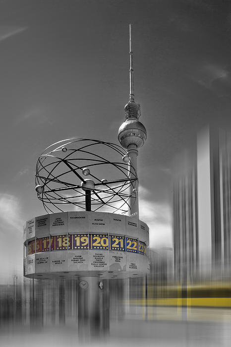 Dynamic-art Berlin City-centre Print by Melanie Viola