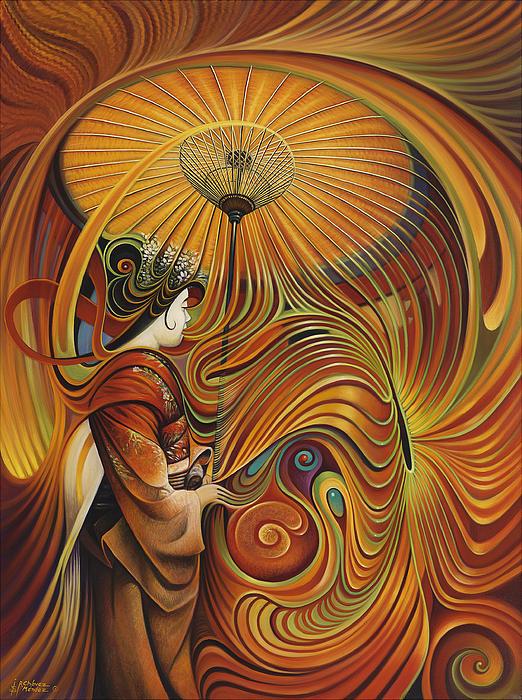 Dynamic Oriental Print by Ricardo Chavez-Mendez