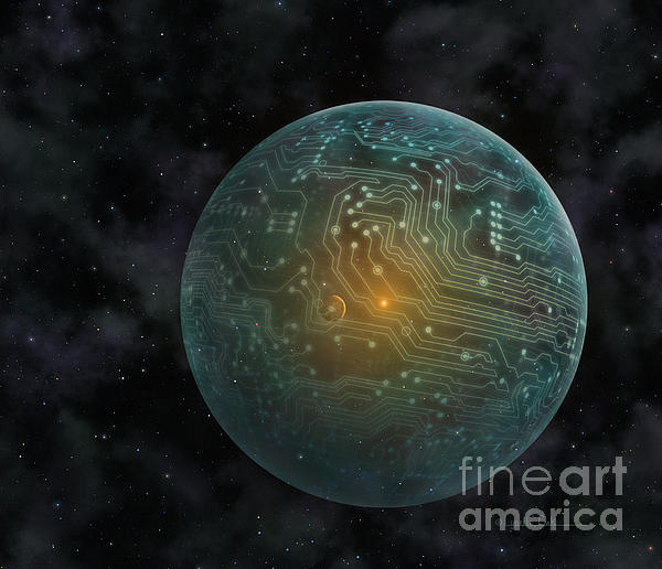 Dyson Sphere Print by Lynette Cook