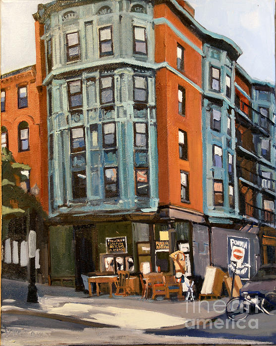 E And W Broadway Print by Deb Putnam