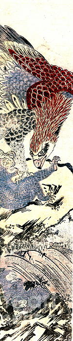 Eagle Attacking  Monkey 1772 Print by Padre Art