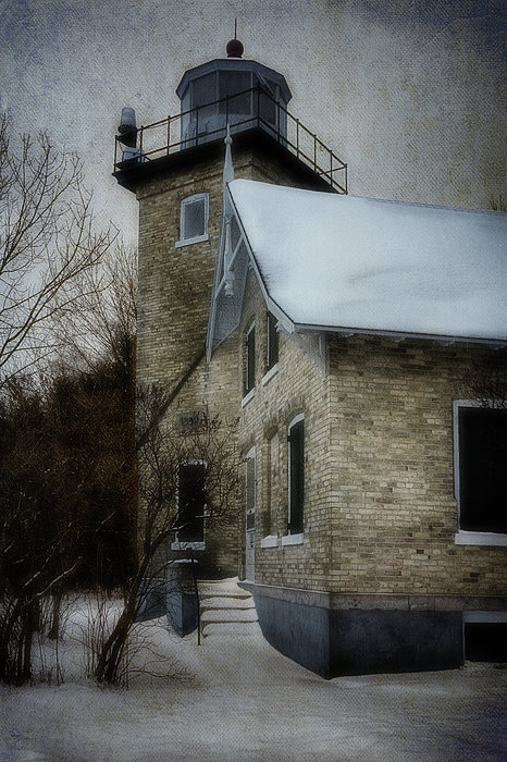 Eagle Bluff Light Print by Joan Carroll