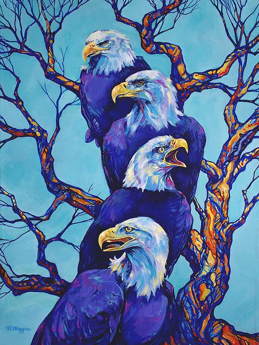 Eagle Tree Print by Derrick Higgins