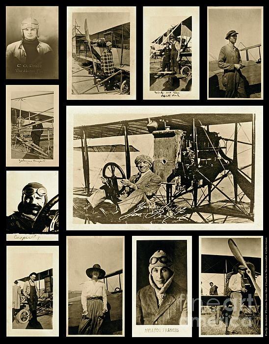 Earlier Aviators Print by Gwyn Newcombe