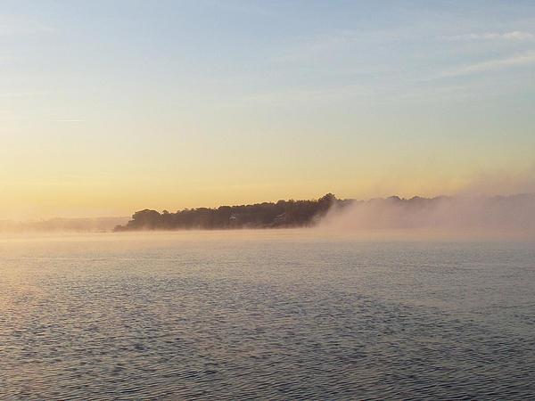 Early Morning Fog Rolling In Print by John Telfer