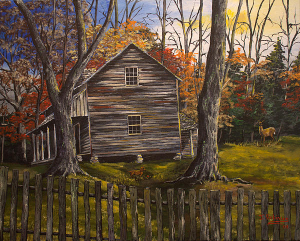 Early Morning In The Smokey Mountains Print by Julia Robinson