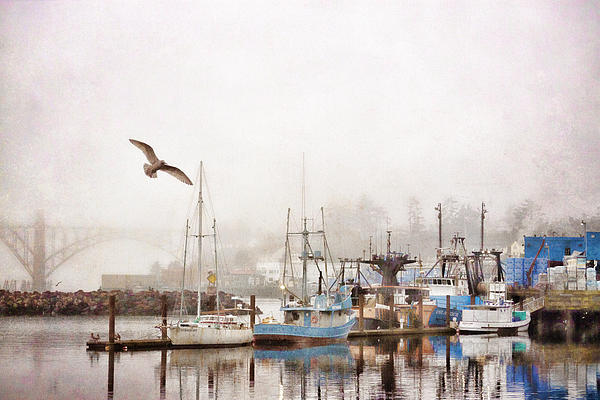 Early Morning Newport Oregon Print by Carol Leigh