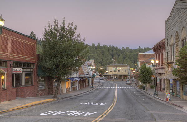 Early Morning Placerville Print by Steve Barr