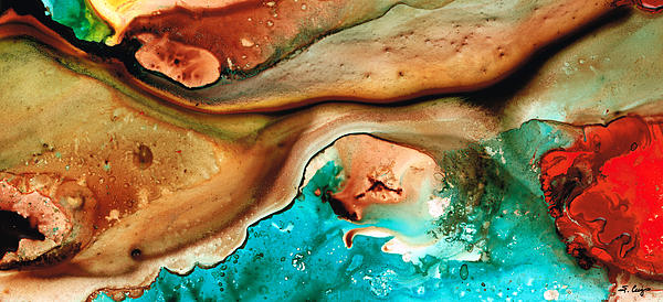 Earth Flow - Earthy Abstract By Sharon Cummings Print by Sharon Cummings