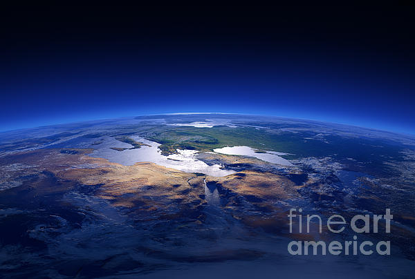 Earth - Mediterranean Countries Print by Johan Swanepoel