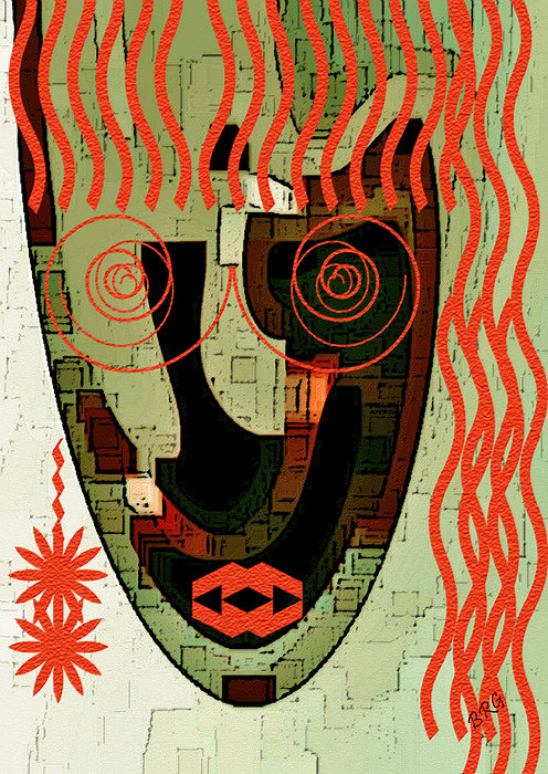 Earthy Woman Print by Ben and Raisa Gertsberg