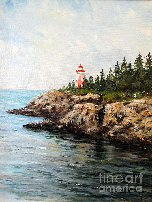 East Quoddy Head Light Print by Lee Piper