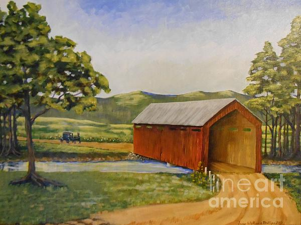 Eastern Covered Bridge Print by Susan Williams
