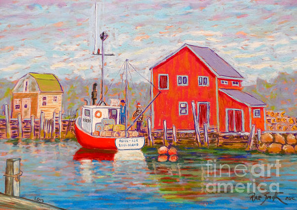 Eastern Passage Lobster Boat Print by Rae  Smith PSC