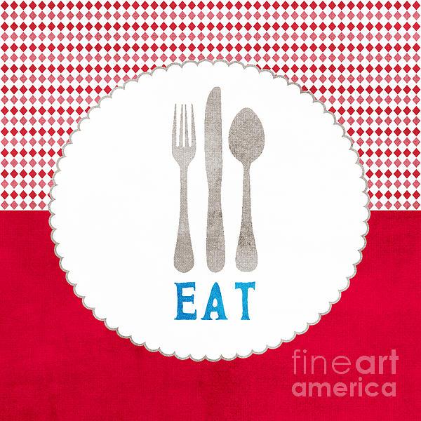 Eat Print by Linda Woods