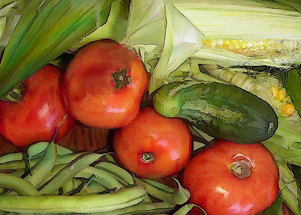 Eat Your Veggies Print by Elaine Plesser