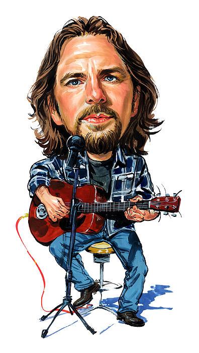 Eddie Vedder Print by Art