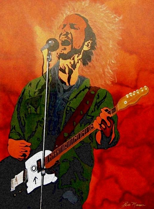Eddie Vedder-eddie Live Print by Bill Manson