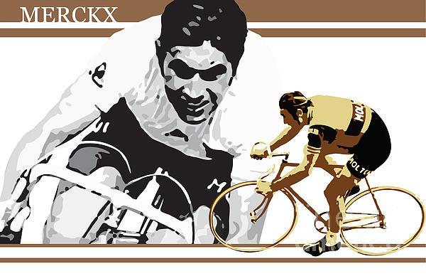 Eddy Merckx Print by Sassan Filsoof