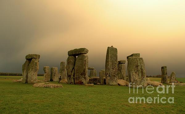 Eerie Stonehenge Print by Deborah Smolinske