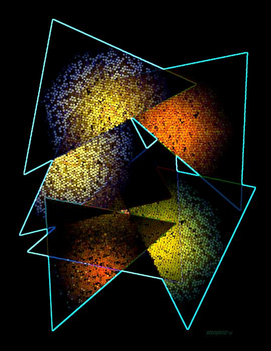 Effects Triangles Print by Mario  Perez