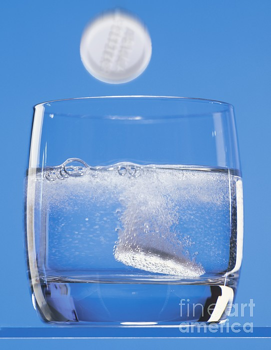 Effervescent Tablets In Water Print by Martyn F. Chillmaid