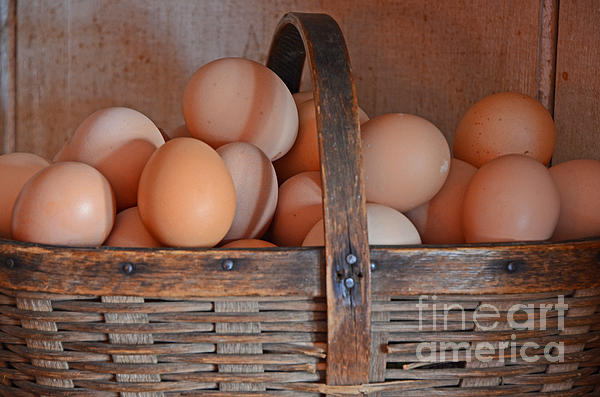 Egg Basket Print by Mary Carol Story