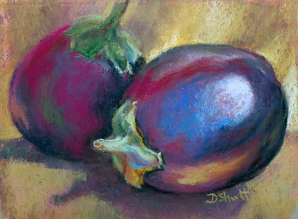 Eggplant Print by Donna Shortt