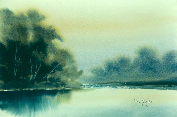 Egret Print by John Runions
