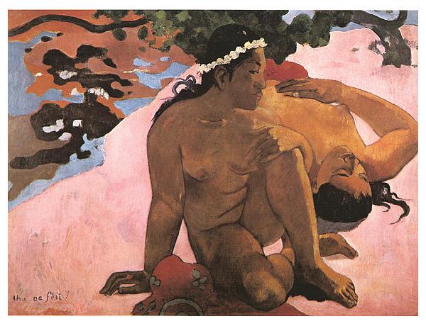 Eh Quoi Es-tu Jalouse Print by Paul Gauguin