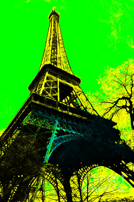 Eiffel 20130115v2 Print by Wingsdomain Art and Photography