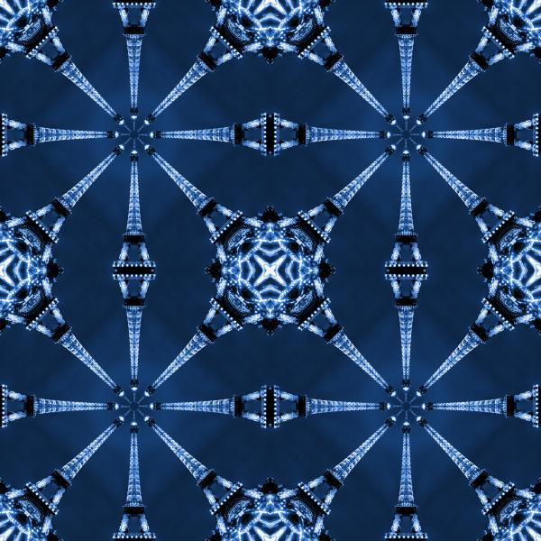 Eiffel Art 18 Print by Mike McGlothlen