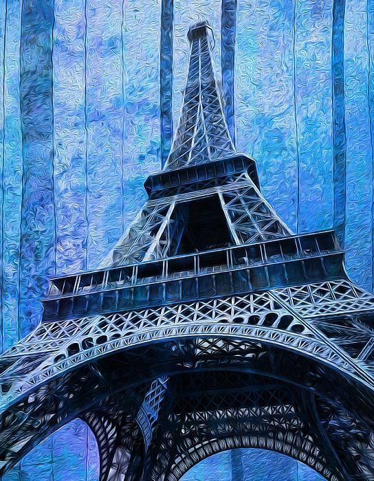 Eiffel Tower 2 Print by Jack Zulli