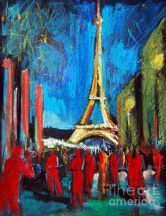 Mona Edulesco - Eiffel Tower And The Red Visitors