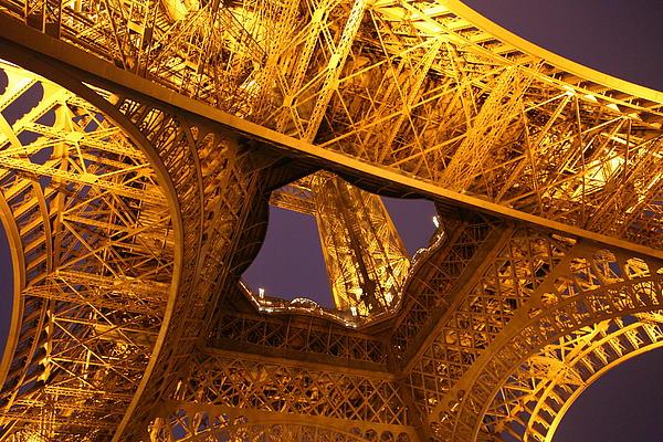 Eiffel Tower - Paris France - 011312 Print by DC Photographer