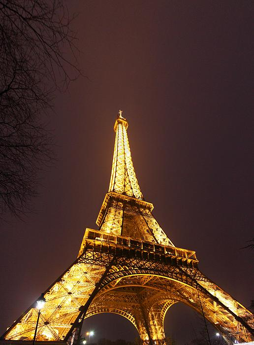 Eiffel Tower - Paris France - 011313 Print by DC Photographer