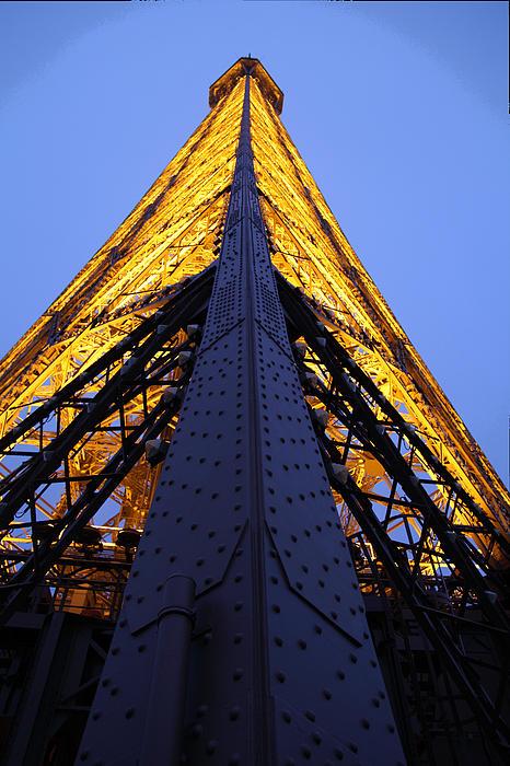 Eiffel Tower - Paris France - 01137 Print by DC Photographer