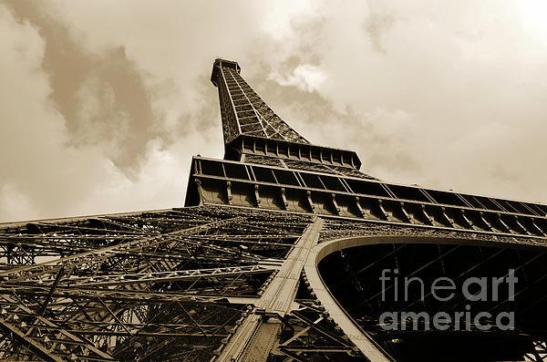 Eiffel Tower Paris France Black And White Print by Patricia Awapara