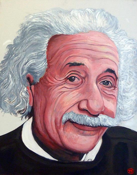 Einstein Print by Tom Roderick