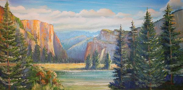 El Capitan  Yosemite National Park Print by Remegio Onia