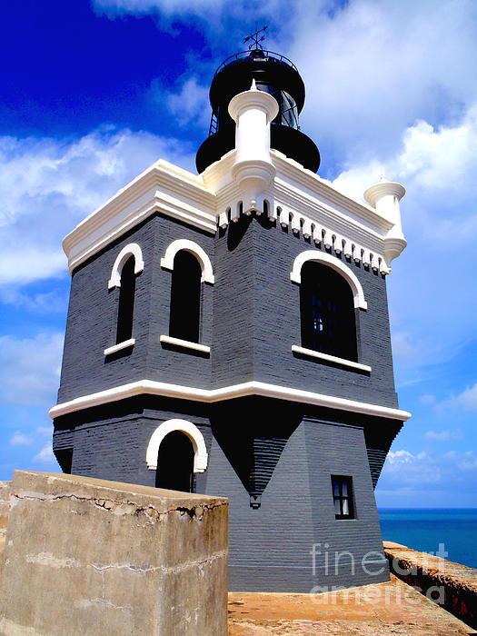 El Morro Lighthouse Print by Carey Chen