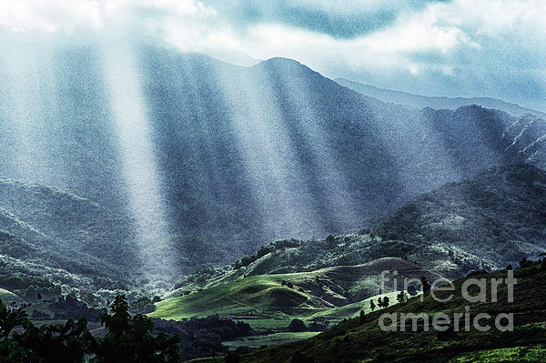 El Yunque And Sun Rays Print by Thomas R Fletcher