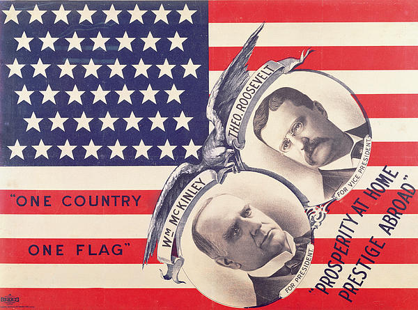 Electoral Poster For The American Presidential Election Of 1900 Print by American School